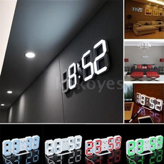 ledwallclock, led, Home Decor, snoozeclock