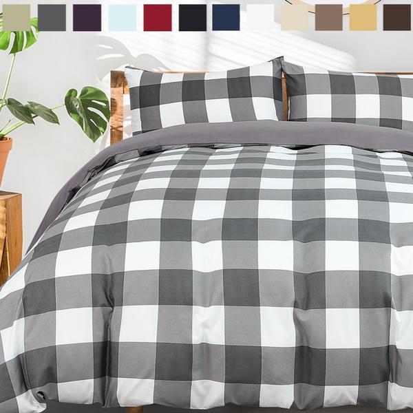 King, farmhousebeddingset, Cotton, purecolorbeddingset