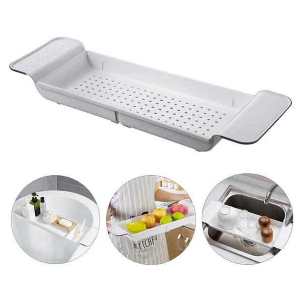 bathtubshelftray, tableshelf, Bathroom Accessories, extendablebathtubrack