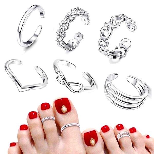 pinkyring, Jewelry, footjewelry, Women's Fashion