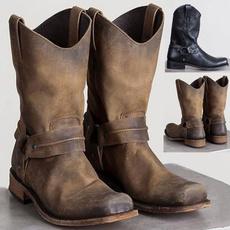 Head, Medium, Leather Boots, Winter