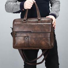 Shoulder, Briefcase, Office, leather