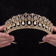 Hairpieces, gold, 60thbirthdaycrown, crown
