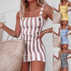 suspenders, Mini, Fashion, Summer