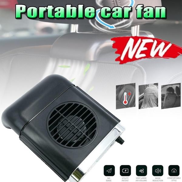 Car Mini USB Fan Foldable 3-Speed Car Gills Headrest Back Seat Cooling Fan Silent Folding Fan Power Supply White//Black VistorHies