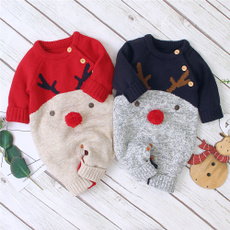 xmassweater, Fashion, knittedromper, babyromper