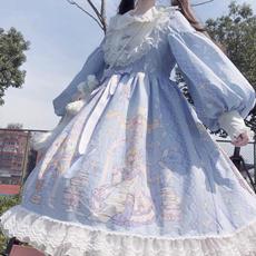 gowns, GOTHIC DRESS, ruffle, gothic lolita