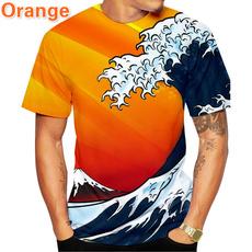Summer, Fashion, polyestertshirt, roundnecktshirt