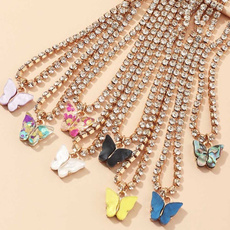 butterfly, Fashion, Chain, girlsbutterflynecklace