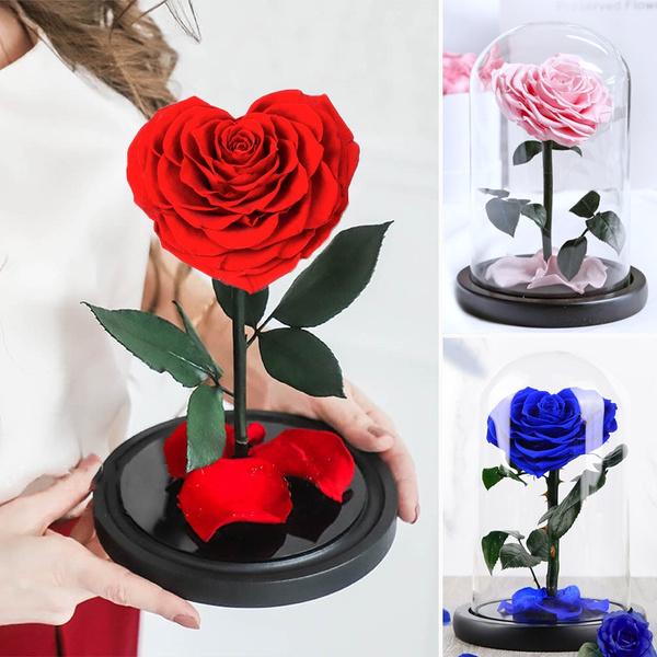 Heart, roseglassdome, preservedrose, Christmas