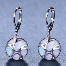 Sterling, opalearring, Dangle Earring, Jewelry