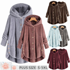 Plus Size, Women Jacket, Жіноча мода, hooded