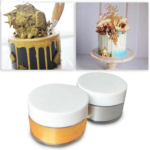 golden, tint, Baking, cakepowder