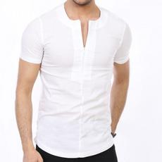 Summer, Fashion, cottonlinen, Shirt