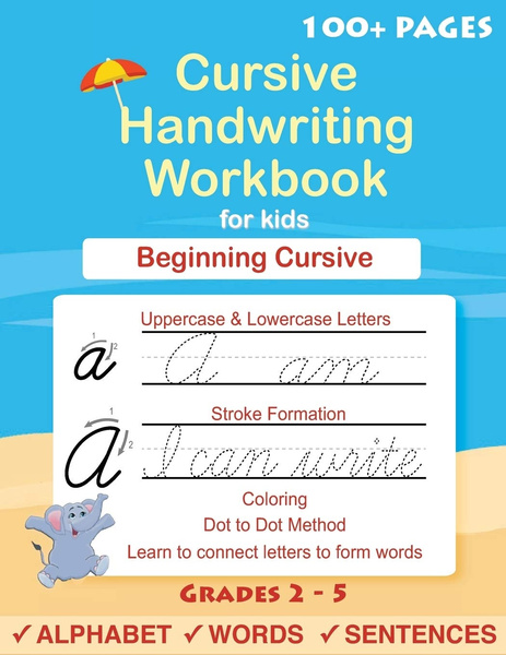 cursiveforbeginnersworkbook, cursivelettertracingbook, Book, handwritingworkbookforchildren