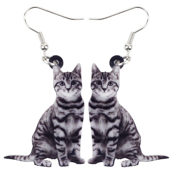 earringsdanglegift, kittencatjewelrycharm, Kitty, earrings jewelry
