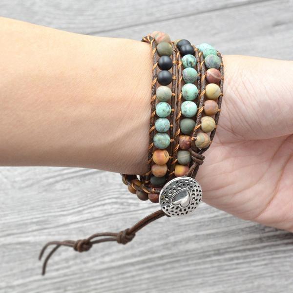Beaded Bracelets, Heart, wovenbracelet, Bracelet