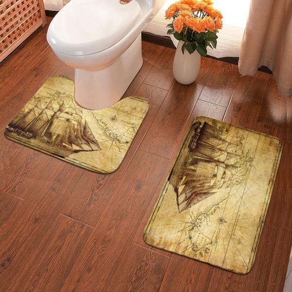 Bathroom, floorpad, toiletmat, Vintage