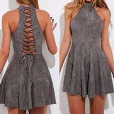 Fashion, Spaghetti, Dress, drapeddre