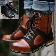 ankle boots, Plus Size, menbigsizeleathershoe, Lace