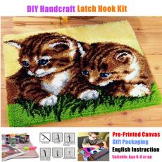 crossstitch, latchhookkit, knittingwool, catpattern