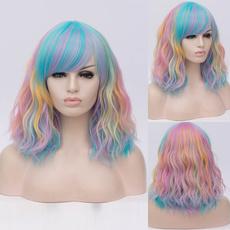 wig, rainbow, Shorts, Cosplay