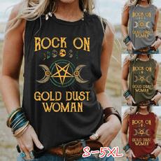 Summer, Vest, tanksforwomen, gold