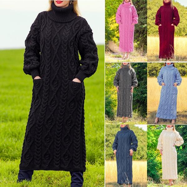 Women Sweater, Gel, Long Sleeve, Dress