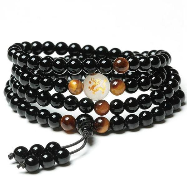 dragonmalabracelet, Jewelry, onyx, strandedbracelet