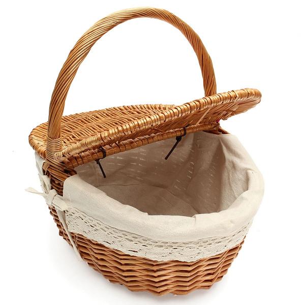 case, fruitbasket, Picnic, wickerhandbasket
