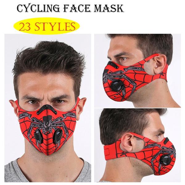 dustmask, activatedcarbon, halfface, bikermask