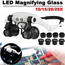 ledmagnifier, magnifyingglassesforrepairingandappraisal, eye, magnifierglasse
