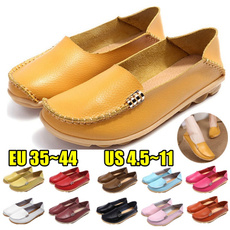 casual shoes, Flats, Plus Size, leather