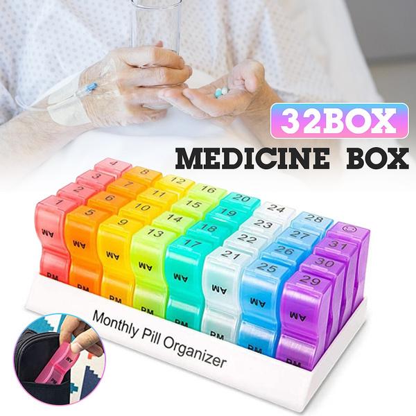 Box, pillholder, Tablets, pillorganizerbox