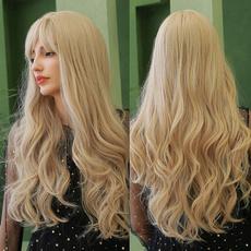 wig, curly wig, longblondewig, blonde wig