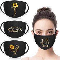 washable, mouthmask, Sunflowers, faith