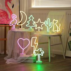 Heart, led, flashlamp, lights