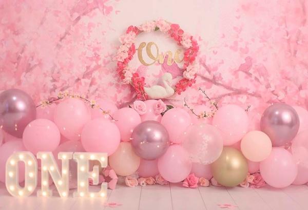 pink, cakesmashoutfitgirl, muralposter, Floral