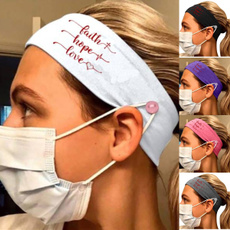 headbandwithfastener, facemaskholder, Love, maskband