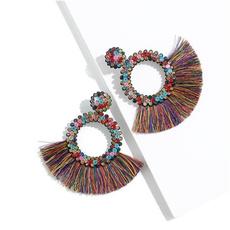 bohemia, Ear Drops, Tassels, Fashion