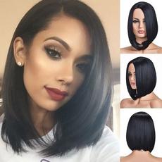 Black wig, wig, straightwig, Shorts