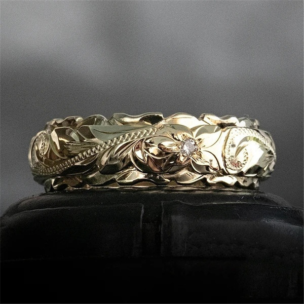 tailring, goldplated, Flowers, Jewelry
