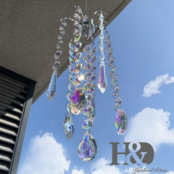 Beautiful, crystalprismshangingcrystal, Chandelier, Lighting