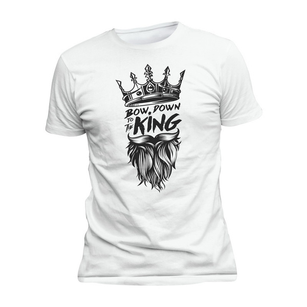 Funny, Graphic, men's cotton T-shirt, King