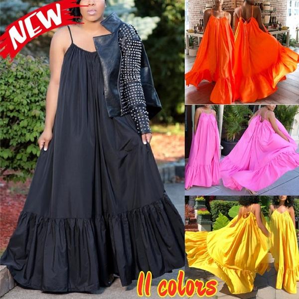 sleeveless, Fashion, Swing dress, long dress