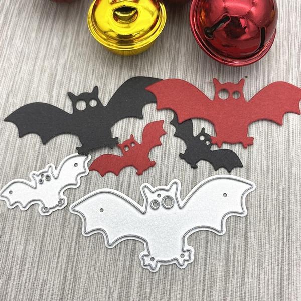Card, Bat, stencil, Scrapbooking