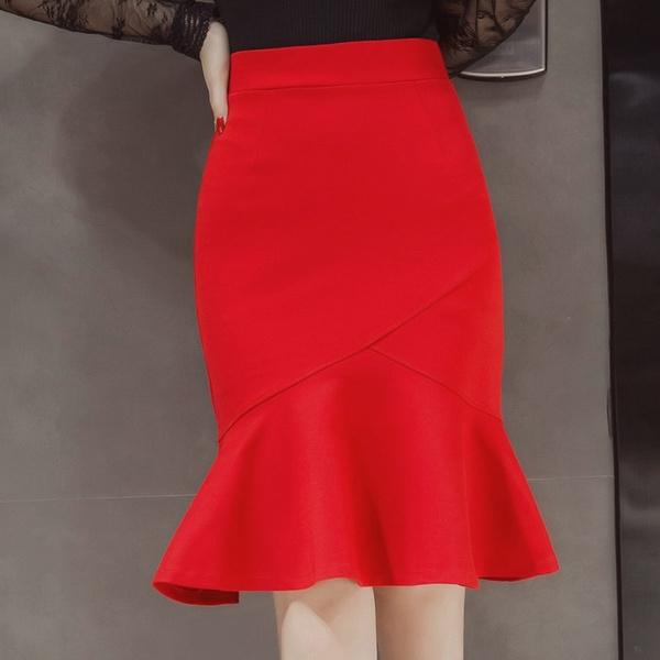 Fashion Skirts, long skirt, pencil skirt, ruffle