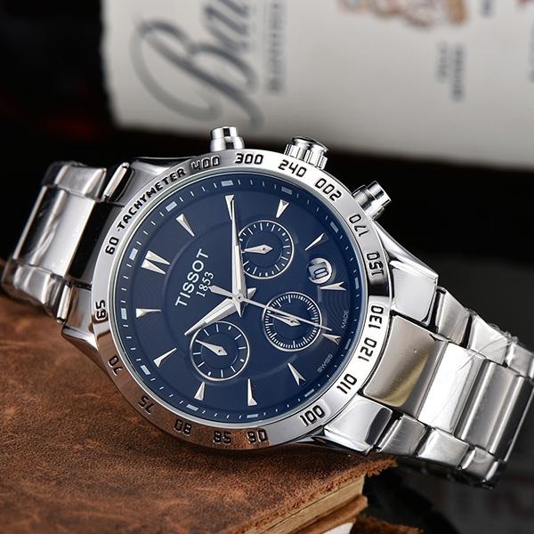 Steel, quartz, business watch, Waterproof