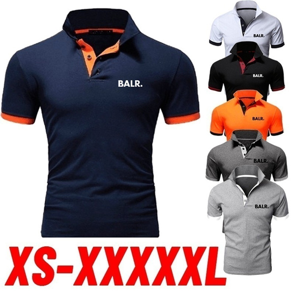Summer, polo men, Slim T-shirt, balrshirt