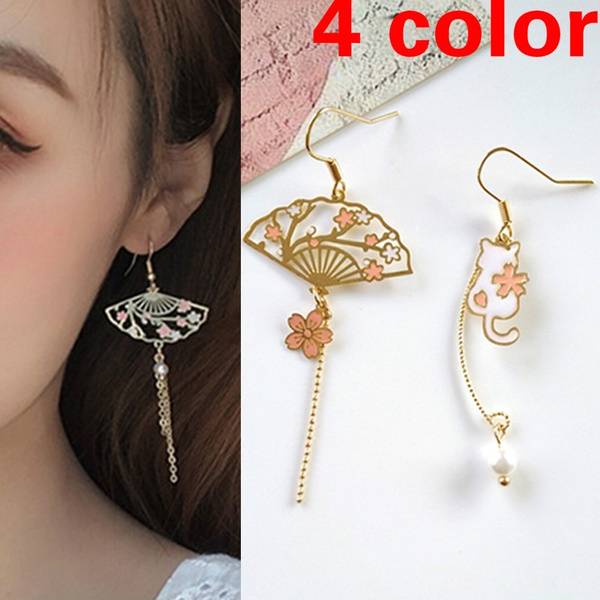 Fashion, lotusearring, Earring, asymmetric